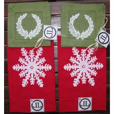 Snowflake Guest Towel and Wreath Cocktail Napkin Set