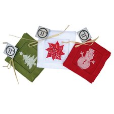 <strong>Lowcountry Linens</strong> Holiday Assortment Cocktail Napkin (Set of 12)