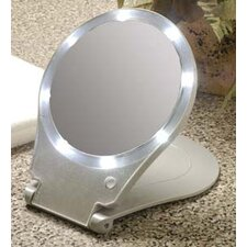 <strong>Floxite</strong> 10x Lighted Travel and Home Mirror
