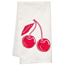 Organic Block Print Cherry Towel