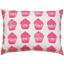 Cupcake All Over Pattern Block Print Accent Pillow