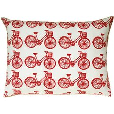 <strong>Artgoodies</strong> Bike All Over Pattern Block Print Accent Pillow