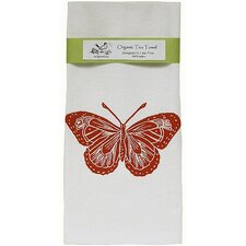 <strong>Artgoodies</strong> Organic Butterfly Block Print Tea Towel