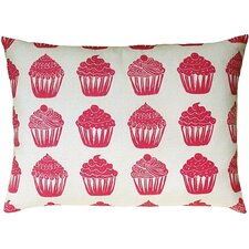 <strong>Artgoodies</strong> Cupcake All Over Pattern Block Print Accent Pillow