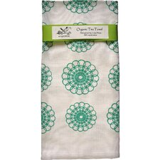 <strong>Artgoodies</strong> Organic Doily All Over Pattern Block Print Tea Towel