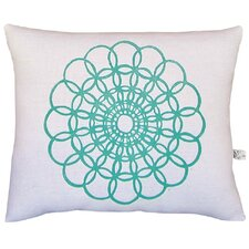 Doily Block Print Squillow Accent Pillow