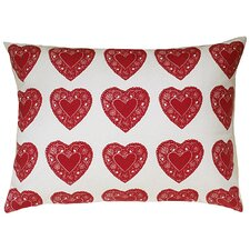 <strong>Artgoodies</strong> Heart All Over Pattern Block Print Sham Accent Pillow