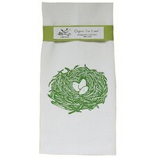 Organic Nest Block Print Tea Towel