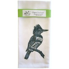 <strong>Artgoodies</strong> Organic Kingfisher Block Print Tea Towel