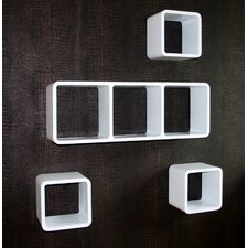 4-tlg. Regalwürfel Set quaderförmig aus Holz groß