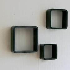 3-tlg. Regalwürfel Set quaderförmig aus Holz