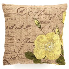 Tea Rose Down Filled Embroidered Pillow