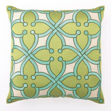 Stained Glass Down Filled Embroidered Linen Pillow