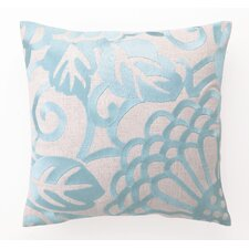 Chrysanthemum Down Filled Embroidered Linen Pillow