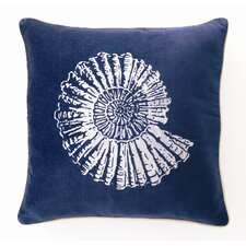 Nautilus Down Filled Embroidered Velvet Pillow