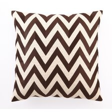 <strong>D.L. Rhein</strong> Zig Zag Down Filled Embroidered Linen Pillow