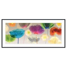 <strong>Barewalls</strong> Poppy Panorama by Robert Mertens Metal Framed Art Print