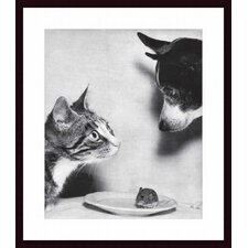 Cat, Mouse and Dog, 1955 Wood Framed Art Print