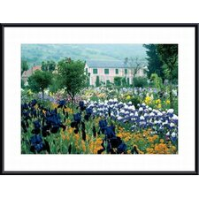 'Irises Country Estate' by Claude Monet Framed Photographic Print