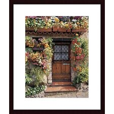 <strong>Barewalls</strong> Flower Cottage Wood Framed Art Print