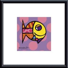 <strong>Barewalls</strong> Britto Striped Fish Metal Framed Art Print
