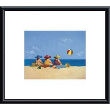 Three Ladies Sunning by Michael Paraskevas Framed Painting Print