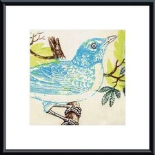<strong>Barewalls</strong> Bluebird by Swan Papel Metal Framed Art Print