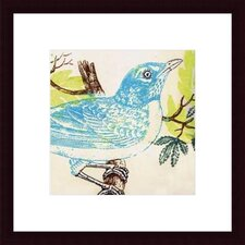 <strong>Barewalls</strong> Bluebird by Swan Papel Wood Framed Art Print