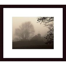 Parish Hill Barn Wood Framed Art Print