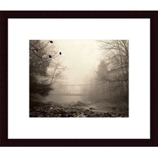 <strong>Barewalls</strong> Parish Hill Bridge Wood Framed Art Print