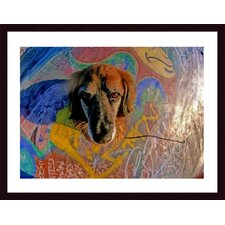 Look Into My Eyes Wood Framed Art Print