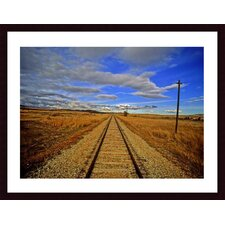 <strong>Barewalls</strong> Rails To Infinity Wood Framed Art Print