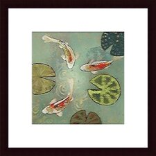 <strong>Barewalls</strong> Floating Motion II by Aleah Koury Wood Framed Art Print