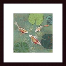 'Floating Motion I' by Aleah Koury Framed Graphic Art