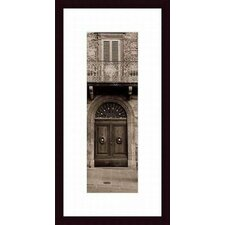 <strong>Barewalls</strong> La Porta Via, Todi Wood Framed Art Print