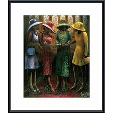 <strong>Barewalls</strong> Sunday Conversation Metal Framed Art Print
