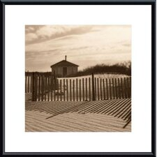 Dune Shack Metal Framed Art Print