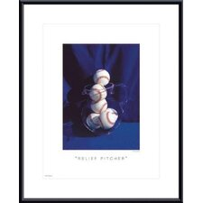 <strong>Barewalls</strong> Relief Pitcher Metal Framed Art Print