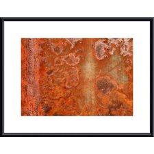 Orange Rust Abstract by John K. Nakata Framed Photographic Print