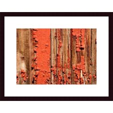 <strong>Barewalls</strong> Chipped Paint Abstract Wood Framed Art Print