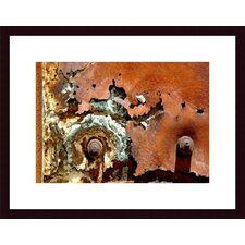 <strong>Barewalls</strong> Concentric Rust Abstract Wood Framed Art Print