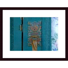 <strong>Barewalls</strong> Brass Door Handle Wood Framed Art Print