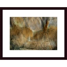 <strong>Barewalls</strong> Water and Rock Wood Framed Art Print