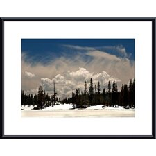 <strong>Barewalls</strong> Clouds and Snow Metal Framed Art Print