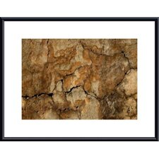 <strong>Barewalls</strong> Cracked Wall Abstract Metal Framed Art Print