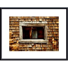 <strong>Barewalls</strong> Shingle Siding and Window Metal Framed Art Print