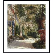 <strong>Barewalls</strong> The Palm House by Carl Blechen Metal Framed Art Print