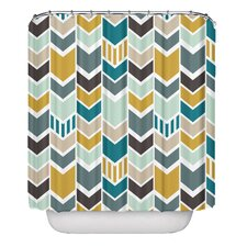 Nautical Chevron Pellerina Designs Polyester Shower Curtain