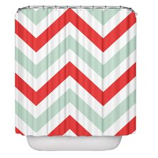 Chevron Polyester Shower Curtain