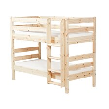 Classic Bunk Bed with Straight Ladder